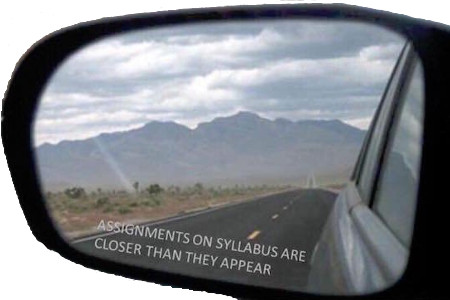 warning - objects in syllabus are closer than they appear