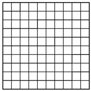 square with 100 boxes