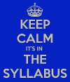 link to syllabus